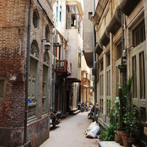 walled city streets