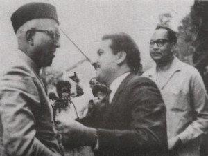 K H Khurshid With Sheikh Abdullah in 1964 In Rawalpindi