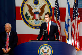 trump's son in law speaking at us embassy opening in jerusalem