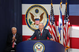 israeli pm at the opening ceremony of us embassy in jerusalem