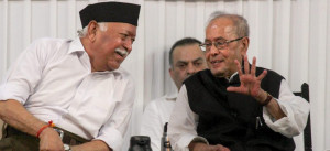 pranab with rss cief bhagwat