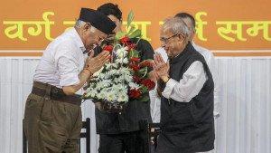 rss chief bhagwat welcoming pranab   mukerji