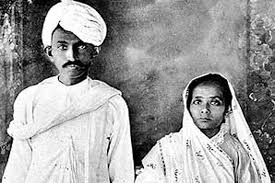 gandhi with kasturba