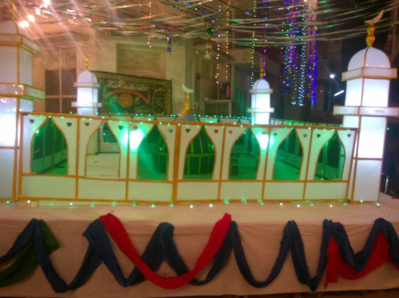 Model decorated on Milad
