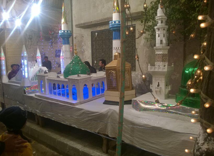 Model of Masjid-e-Nabvi
