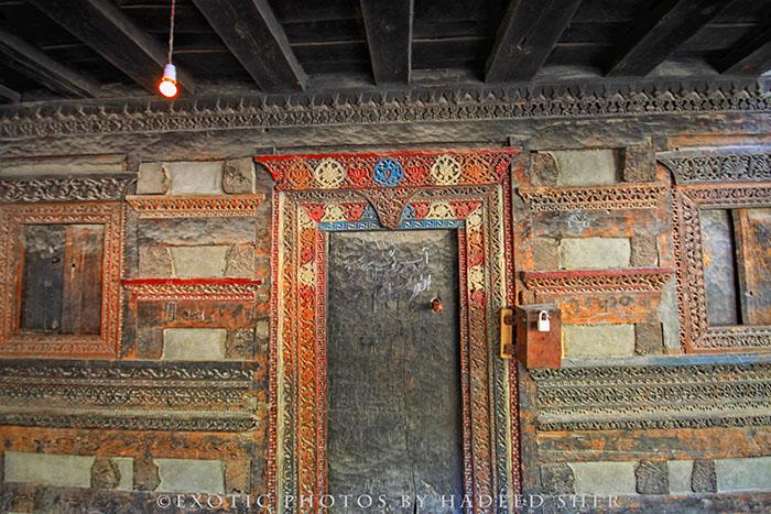 Woodwork of Khilangrong Mosque