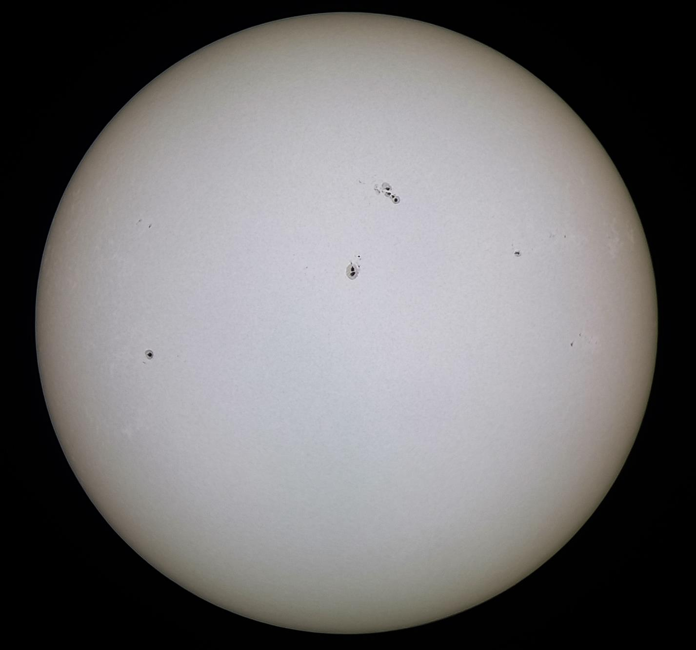 The black marks there are the Sunspots. Picture: Roshaan Bukhari