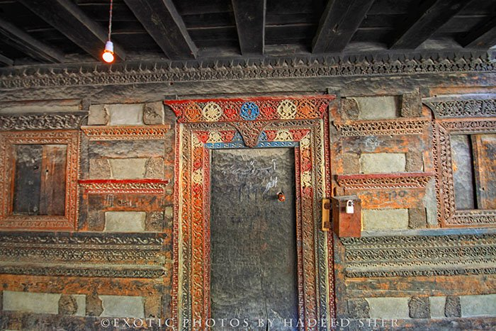 Woodwork of Khilangrong Mosque