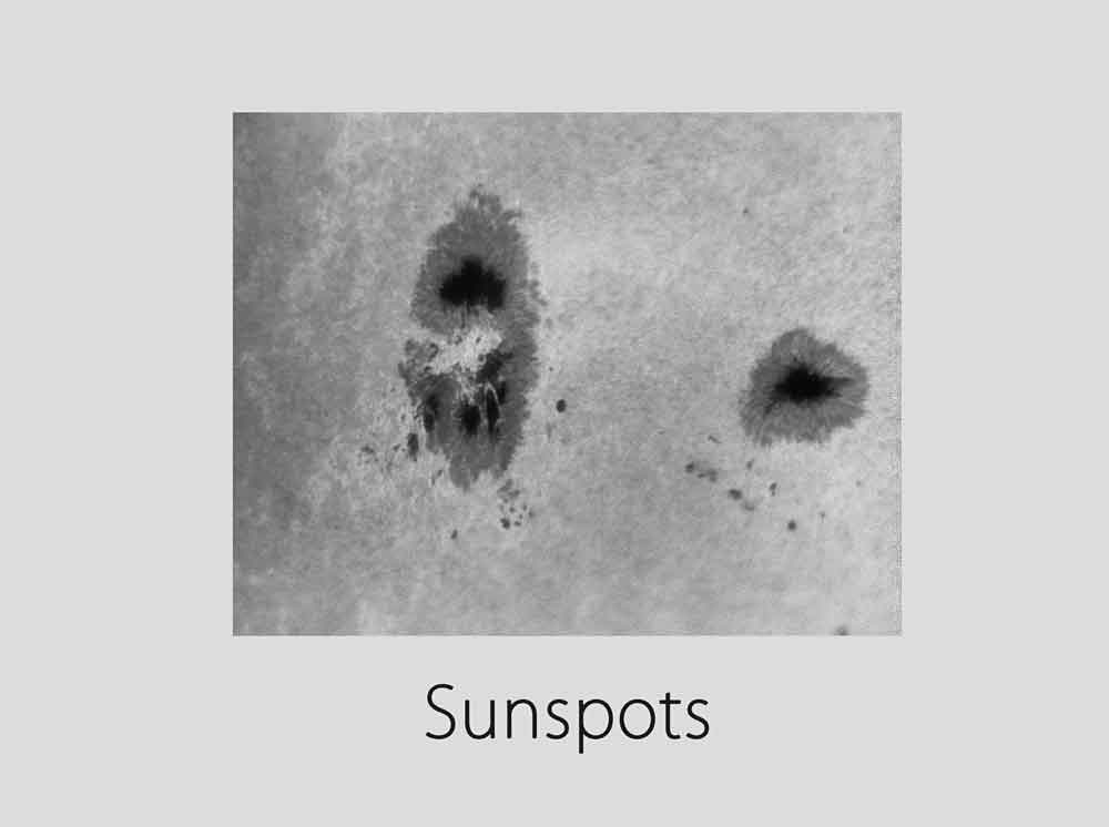 A closer look at Sunspots. Picture credits: Roshaan Bukhari