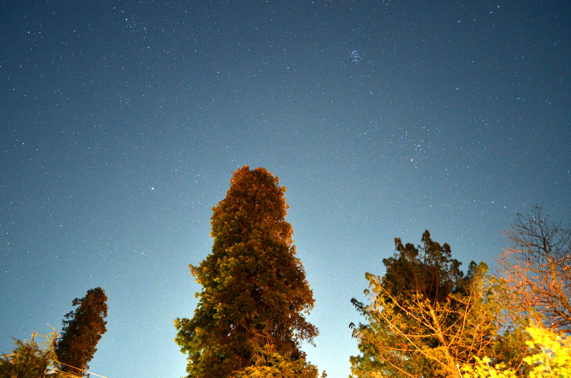 Photo by Author showing stars seen just after sunset in Nathiagali
