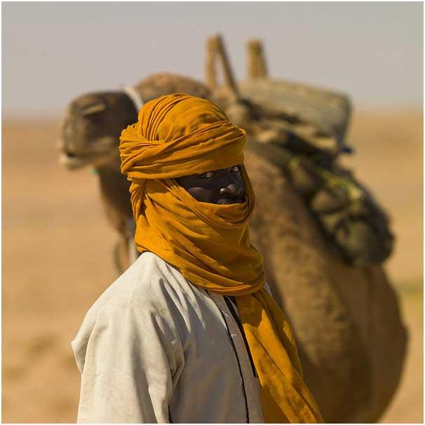 A man from Taureg tribe Sahara desert, picture credit Kwekudee